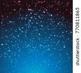 christmas background. sparkling ... | Shutterstock .eps vector #770811865