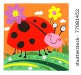 happy ladybird | Shutterstock .eps vector #77081452