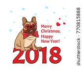 vector 2018 happy new year  ... | Shutterstock .eps vector #770815888