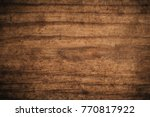 old grunge dark textured wooden ... | Shutterstock . vector #770817922