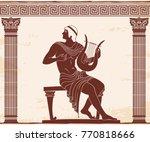 vector vintage greek national... | Shutterstock .eps vector #770818666