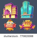 set of vector cartoon badges ... | Shutterstock .eps vector #770820088