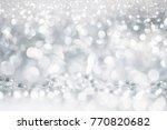 christmas decoration background ... | Shutterstock . vector #770820682