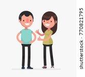 young cute couple vector... | Shutterstock .eps vector #770821795