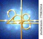 happy new year 2018 text design.... | Shutterstock .eps vector #770823616