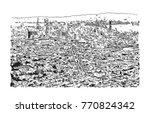 sketch of san fransisco city ... | Shutterstock .eps vector #770824342