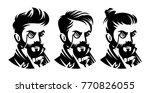 set barbershop victorian...   Shutterstock .eps vector #770826055