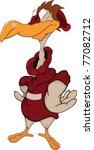 birdie the sportsman in a... | Shutterstock .eps vector #77082712