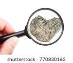 view of rough peridotite rock...