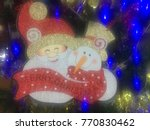 christmas theme with light... | Shutterstock . vector #770830462