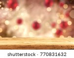 Small photo of Table background and christmas background decoration. Free space for your product.