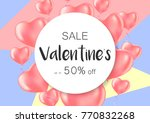 valentine's day sale banners... | Shutterstock .eps vector #770832268