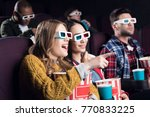 young smiling friends in 3d... | Shutterstock . vector #770833225