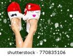 christmas shopping concept... | Shutterstock . vector #770835106