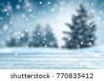 table background and winter... | Shutterstock . vector #770835412
