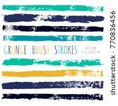 brush strokes set backgrounds.... | Shutterstock .eps vector #770836456