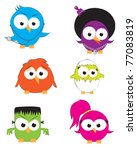vector drawings of cute little... | Shutterstock .eps vector #77083819