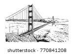 sketch of golden gate bridge ... | Shutterstock .eps vector #770841208