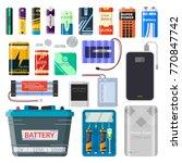 lithium batteries set.... | Shutterstock .eps vector #770847742
