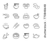 asian food set of vector icons... | Shutterstock .eps vector #770848648