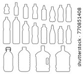 bottles outline icon set. small ... | Shutterstock .eps vector #770851408