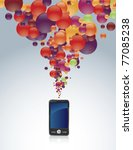 touch screen phone with burst