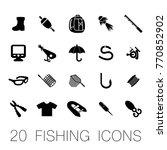 20 fishing icons vector eps10 | Shutterstock .eps vector #770852902