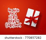 greeting card with hand drawn... | Shutterstock .eps vector #770857282