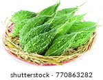 balsam apple  balsam pear ... | Shutterstock . vector #770863282