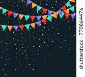 bunting flags garland. fabulous ... | Shutterstock .eps vector #770864476