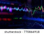 financial stock market graph... | Shutterstock . vector #770866918
