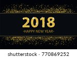 black cover with black banner... | Shutterstock .eps vector #770869252