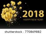 golden balloons and golden...   Shutterstock .eps vector #770869882