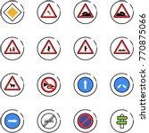 line vector icon set   main... | Shutterstock .eps vector #770875066