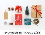 gift box collection and... | Shutterstock . vector #770881165