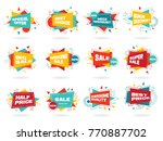 set of colorful abstract chat... | Shutterstock .eps vector #770887702