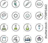 line vector icon set   pipette... | Shutterstock .eps vector #770891662