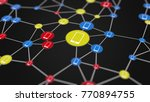 cellular network activity  3d... | Shutterstock . vector #770894755