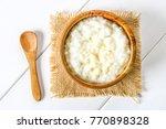 rice milk porridge with nuts... | Shutterstock . vector #770898328