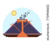 schema of volcano eruption with ... | Shutterstock .eps vector #770900602