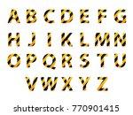 vector alphabet. set of striped ... | Shutterstock .eps vector #770901415