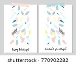 unusual trendy creative cards... | Shutterstock .eps vector #770902282