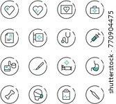 line vector icon set   heart... | Shutterstock .eps vector #770904475