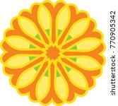 flower icon in trendy flat...