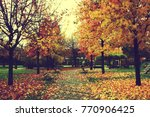 autumn in my city | Shutterstock . vector #770906425