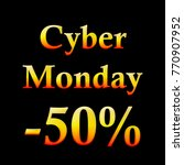 cyber monday tag with percent... | Shutterstock .eps vector #770907952