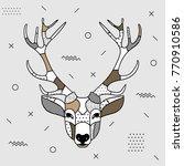 creative modern animal... | Shutterstock .eps vector #770910586