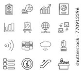 thin line icon set   report ... | Shutterstock .eps vector #770912296