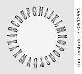vector alphabet written in a... | Shutterstock .eps vector #770912995