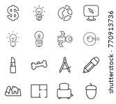 thin line icon set   dollar ...   Shutterstock .eps vector #770913736